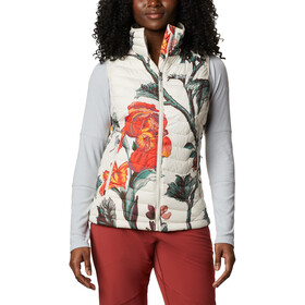 Columbia Powder Lite Vest Women chalk botanica print